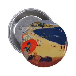 Vintage French Travel Advertisement Button