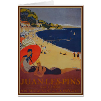 Vintage French Travel Advertisement Card