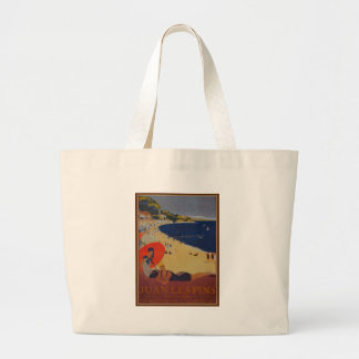 Vintage French Travel Advertisement Large Tote Bag