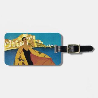 Vintage French Travel Bag Tag