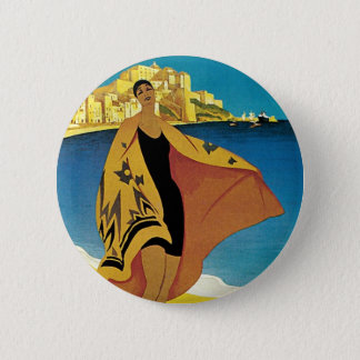 Vintage French Travel Button