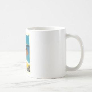 Vintage French Travel Classic White Coffee Mug