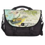 Vintage French trendy bird laptop bag