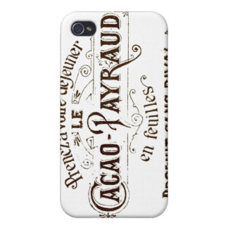 Vintage French Typographic Cacao Chocolate iPhone 4 Cover