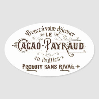 Vintage French Typographic Chocolate Label Art