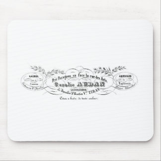 vintage french typography advertisement mouse pad