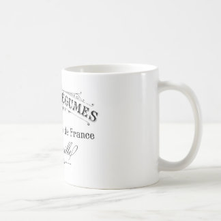 vintage french typography cafes et legumes classic white coffee mug