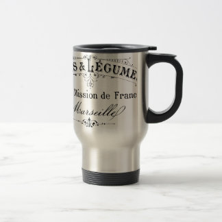vintage french typography cafes et legumes 15 oz stainless steel travel mug