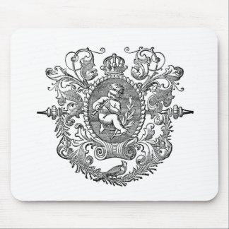 Vintage french typography cherub design mousepads