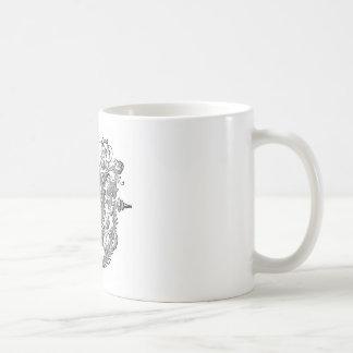 Vintage french typography cherub design classic white coffee mug