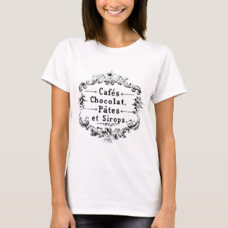Vintage french  typography chocolate design T-Shirt