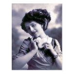 """Vintage French Valentine"" Postcard"