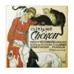 "Vintage French veterinary Cat dog Clinique Chéron Ceramic Tile<br><div class=""desc"">Théophile Alexandre STEINLEN, frequently referred to as just Steinlen (November 10, 1859 – December 13, 1923), was a French Art Nouveau painter and printmaker. His permanent home, Montmartre and its environs, was a favorite subject throughout Steinlen"