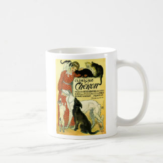 Vintage French veterinary Cat dog Clinique Chéron Coffee Mug