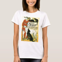 Vintage French veterinary Cat dog Clinique Chéron T-Shirt