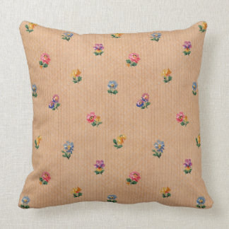 Vintage French Wallpaper Floral Pattern Cushion Throw Pillow