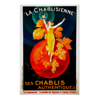 Vintage French Wine Drink Advertising Poster