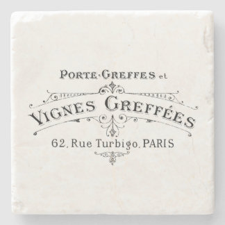 Vintage French Winemakers Coaster