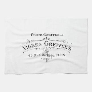 Vintage French Winemakers Towel