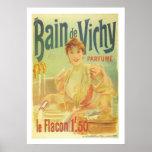 Vintage French woman in bathroom elegant Paris Poster