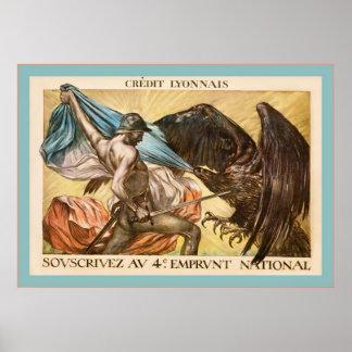 Vintage French World War 1 Poster