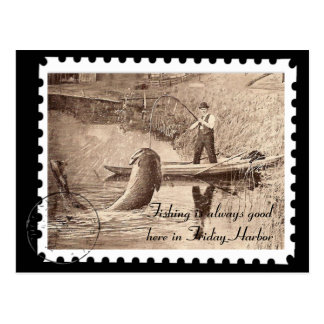 Vintage Friday Harbor Fishing Post Cards