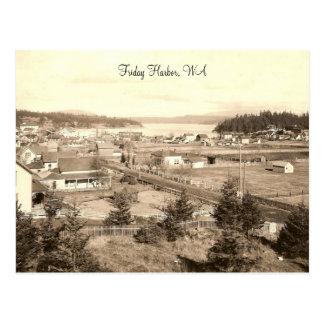 Vintage Friday Harbor Postcard