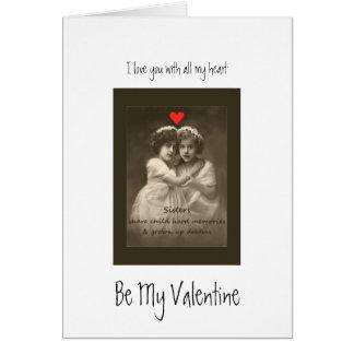 Vintage Friend Love You Hearts Custom Valentine Card