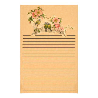 Vintage Friends- Birds And Florals- Stationery