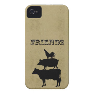 Vintage friends cute funny retro farm animal print iPhone 4 cover