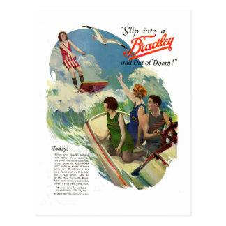 Vintage Friends in Bathing Suits Postcard