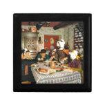 Vintage Frnace, Auvergne, comida de la familia Caja De Recuerdo