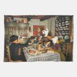 Vintage Frnace, Auvergne, comida de la familia Toalla