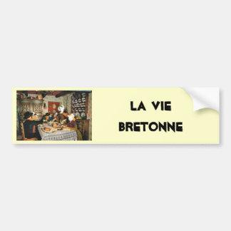 Vintage Frnace, Auvergne, comida de la familia Pegatina Para Auto