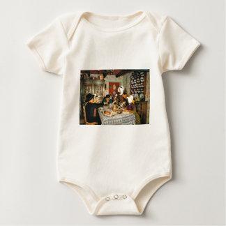 Vintage Frnace, Auvergne, family meal Baby Bodysuit