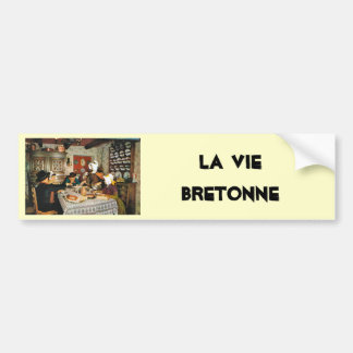 Vintage Frnace, Auvergne, family meal Bumper Sticker