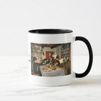 Vintage Frnace, Auvergne, family meal Mug