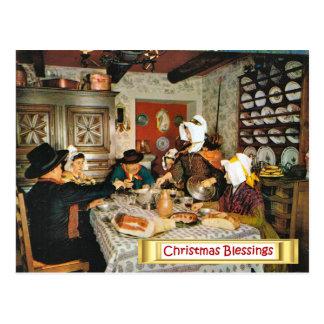 Vintage Frnace, Auvergne, family meal Postcard