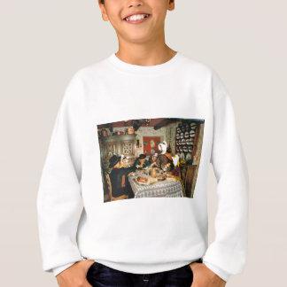 Vintage Frnace, Auvergne, family meal Sweatshirt