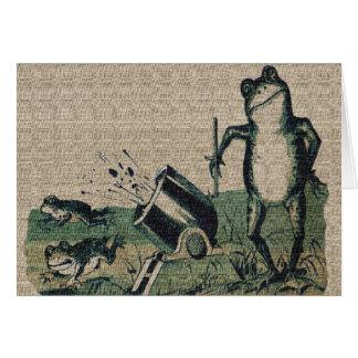Vintage Frog Greeting Card
