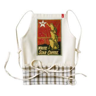 Vintage frog coffee advert appron zazzle HEART apron