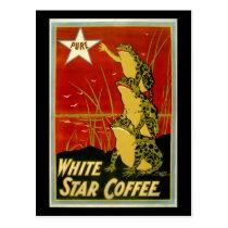 Vintage frog coffee advert card