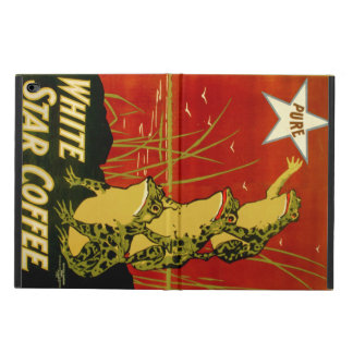Vintage frog coffee advert case