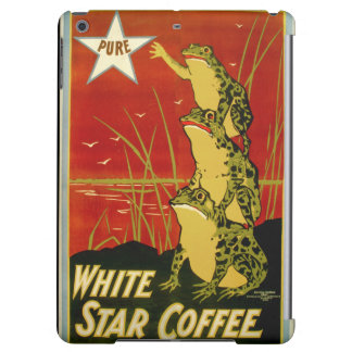 Vintage frog coffee advert case cover for iPad air