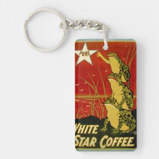 Vintage frog coffee advert keuchain keychain