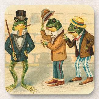 Vintage Frog Drink Coasters