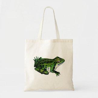 Vintage Frog Illustration Tote Bag