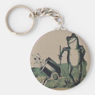 Vintage Frog Basic Round Button Keychain