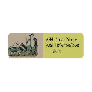 Vintage Frog Return Address Label