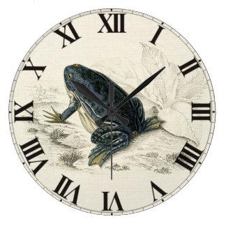 Vintage Frog Large Clock
